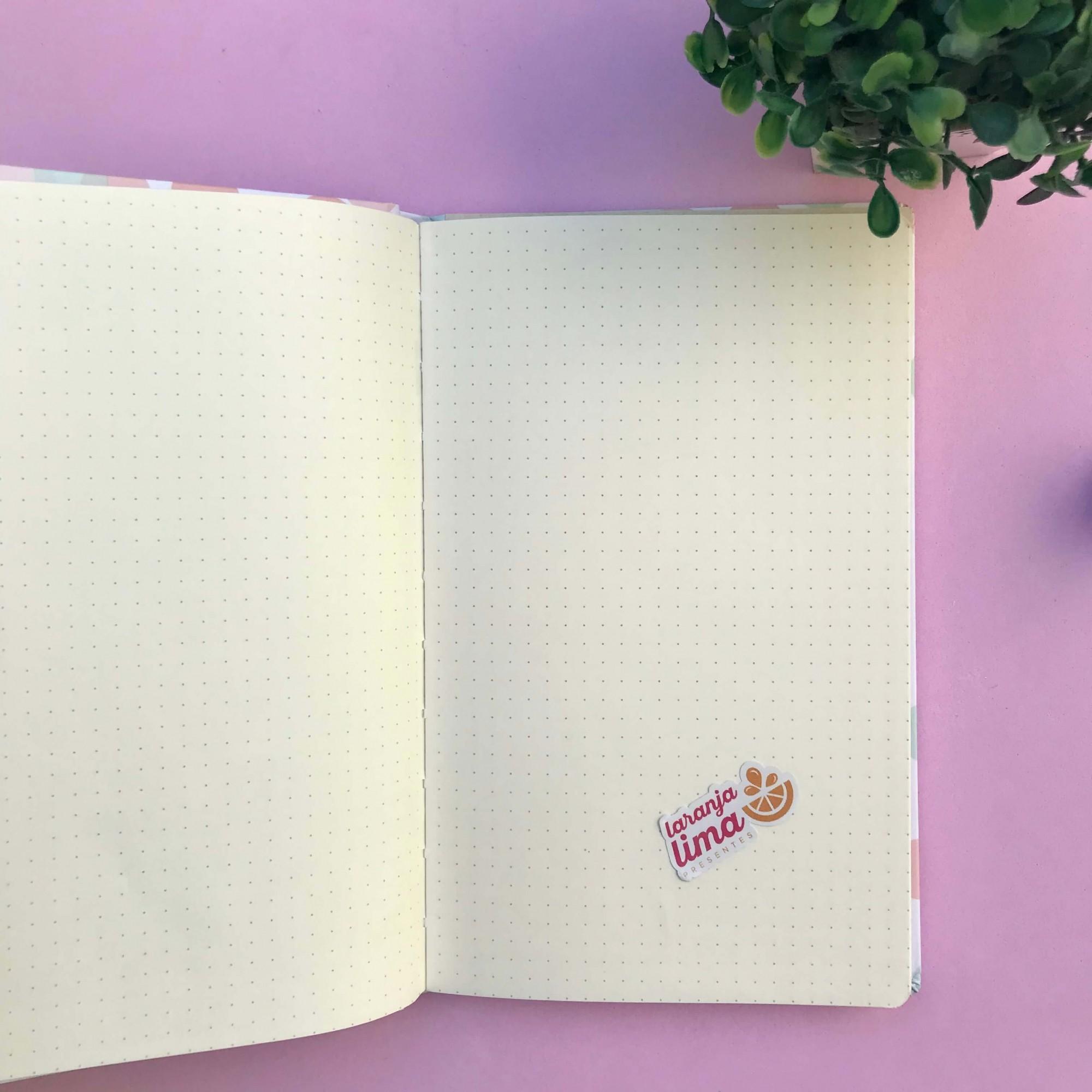 Caderno Pontilhado Costurado Capa Dura Soho