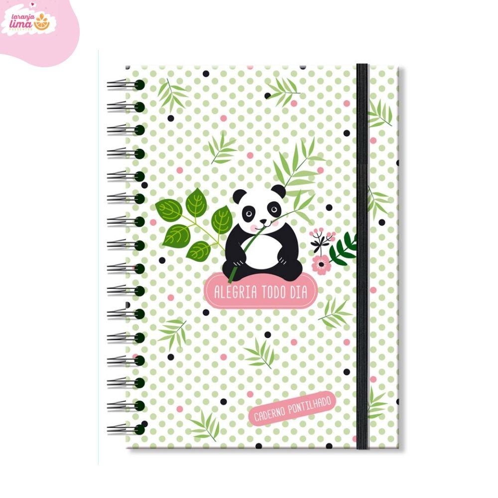 Caderno Pontilhado Panda Fina Ideia