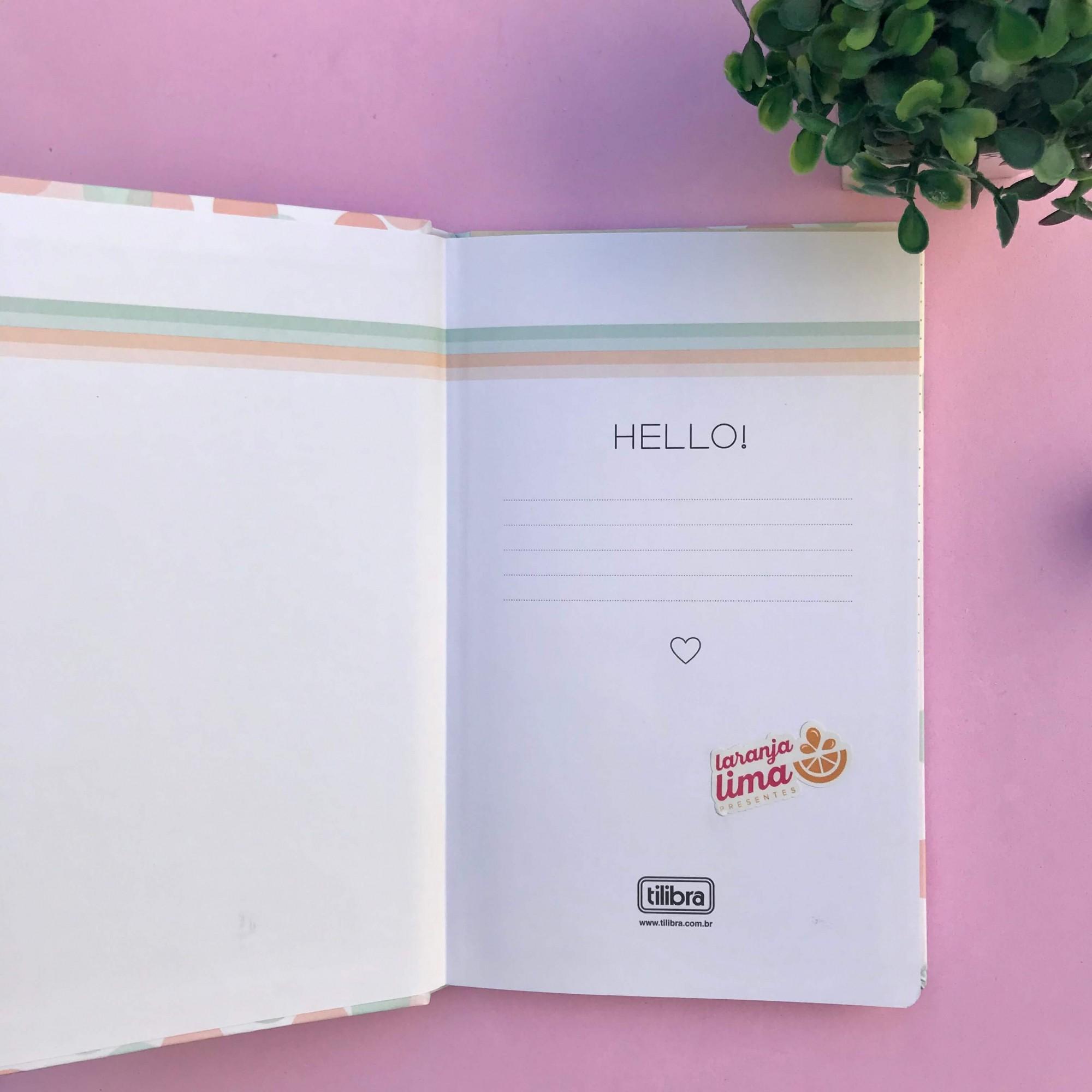 Caderno Sem Pauta Costurado Capa Dura Soho