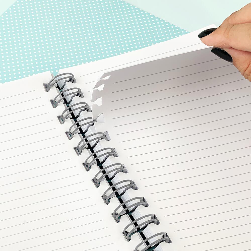 Caderno Smart  1/4 com Folhas Tira e Põe Breeze Dac Lilas