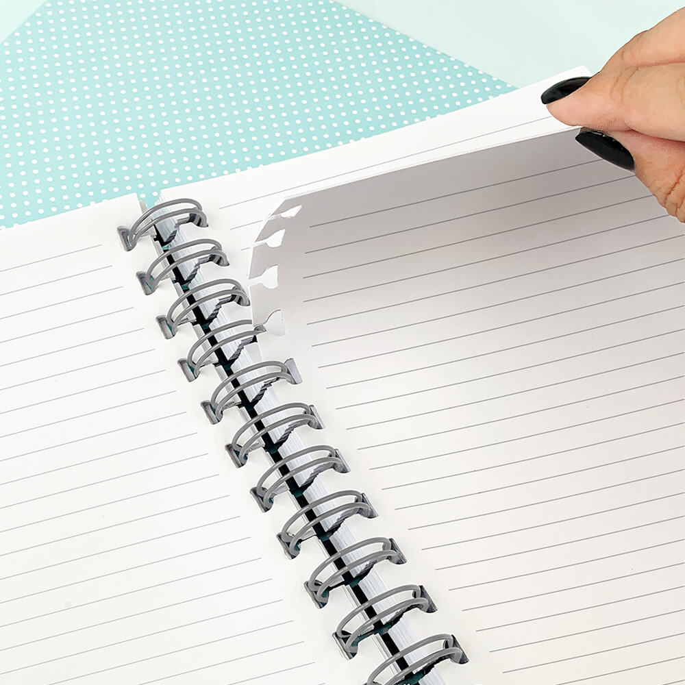 Caderno Smart  1/4 com Folhas Tira e Põe Breeze Dac Verde