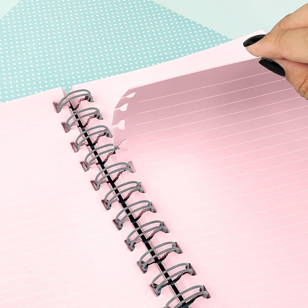 Caderno Smart Universitário 1 Matéria com Folhas Tira e Põe Listras Dac