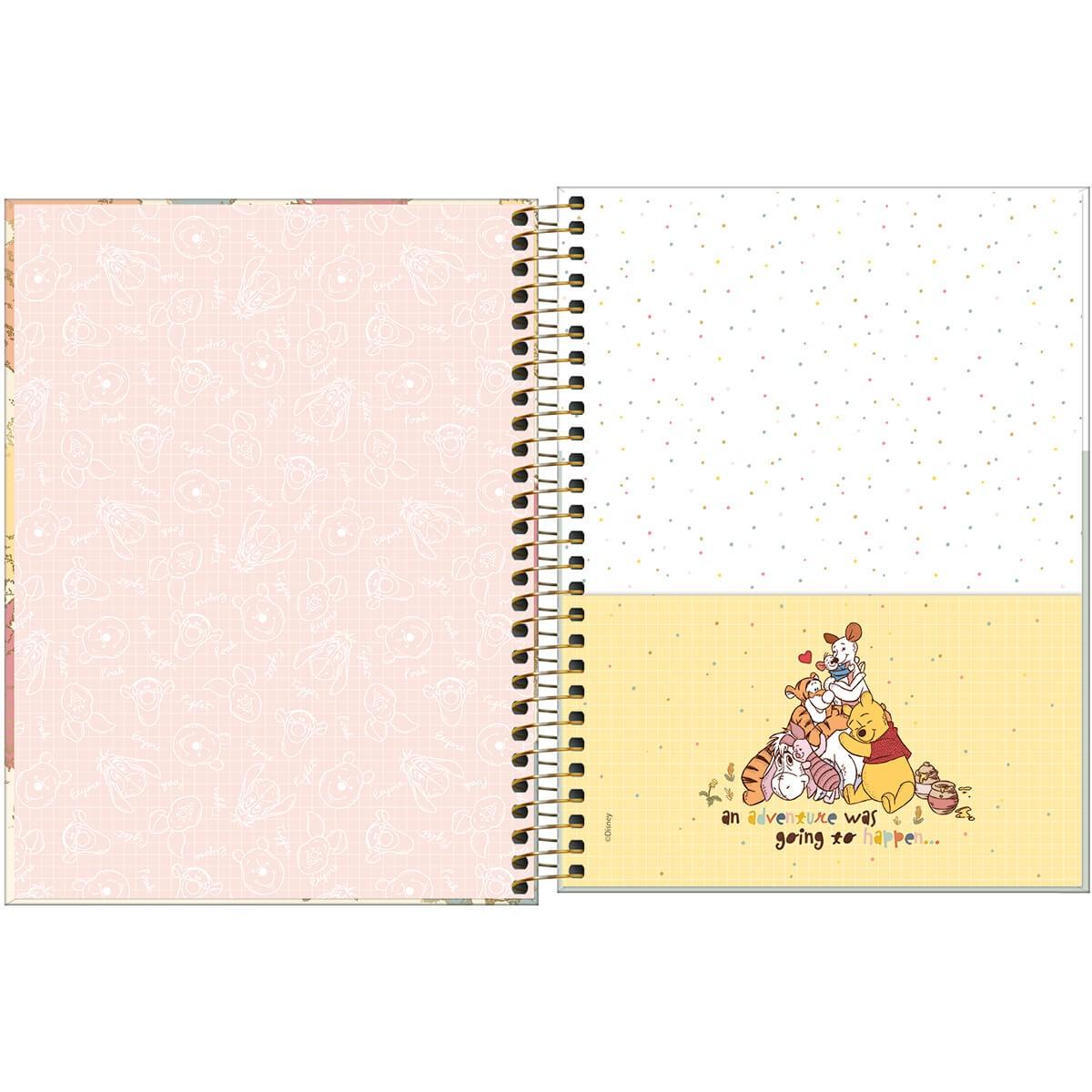 Caderno Universitário 10 Matérias POOH Tilibra