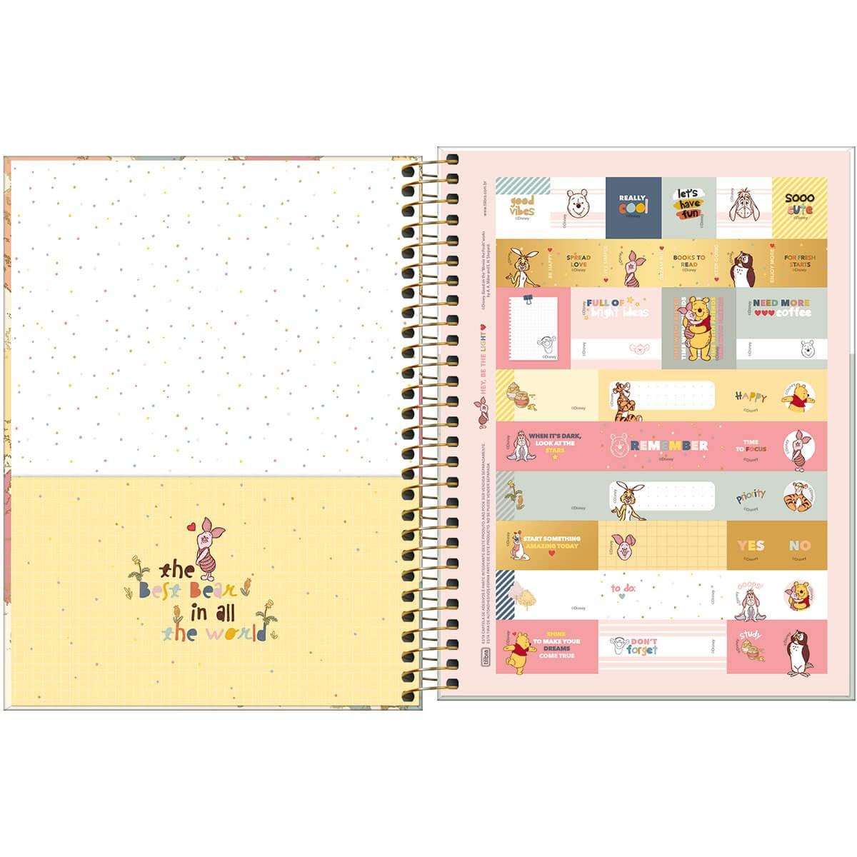 Caderno Universitário 1 Matéria POOH Tilibra