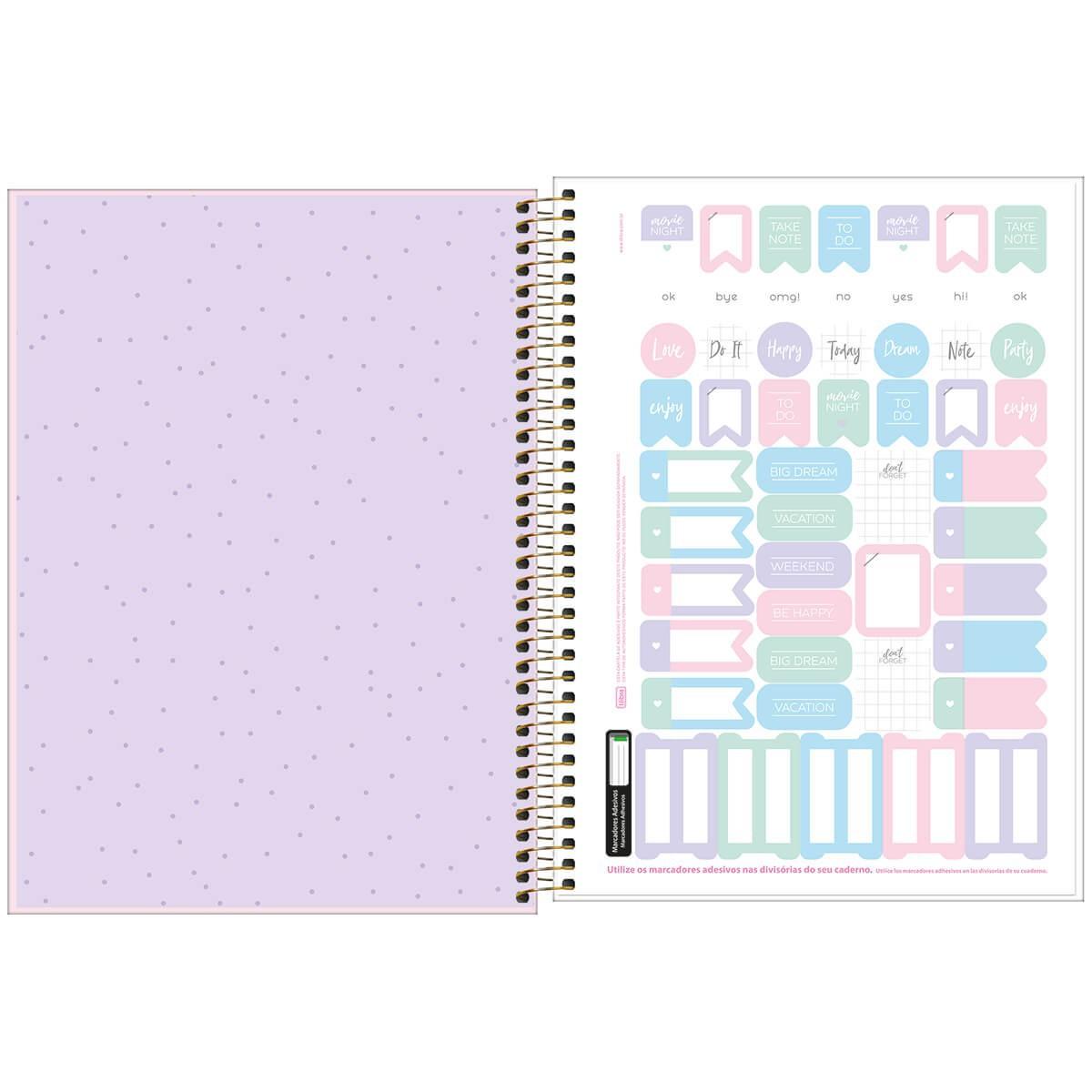 Caderno Universitario HAPPY 1 Materia 80 folhas