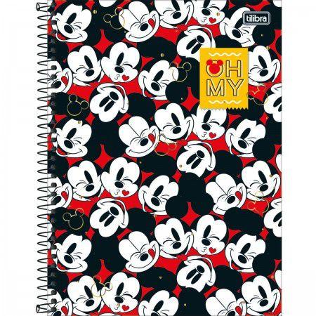 Caderno Universitario Mickey 1M 80fls