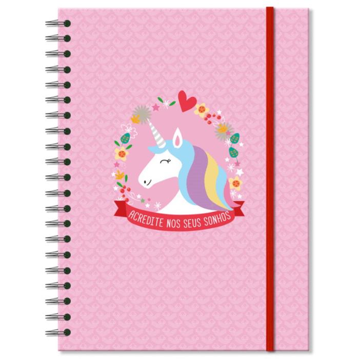 Caderno Universitario Unicornio 200fls