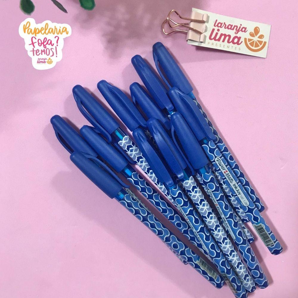 Caneta Esferográfica Paper Mate Kilometrica ST Wraps Azul
