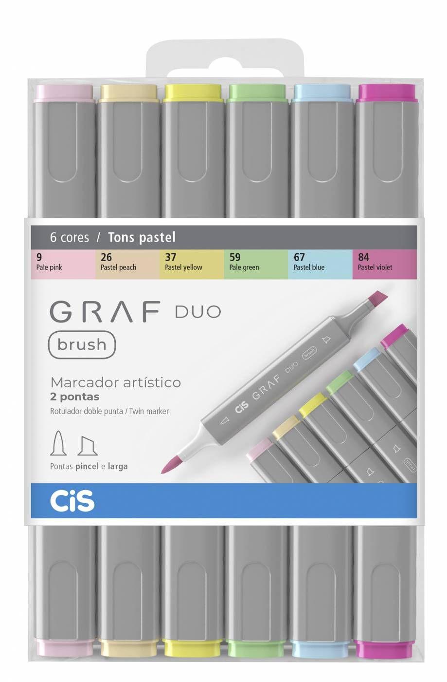 Caneta Marcador Graf Duo Brush Pastel
