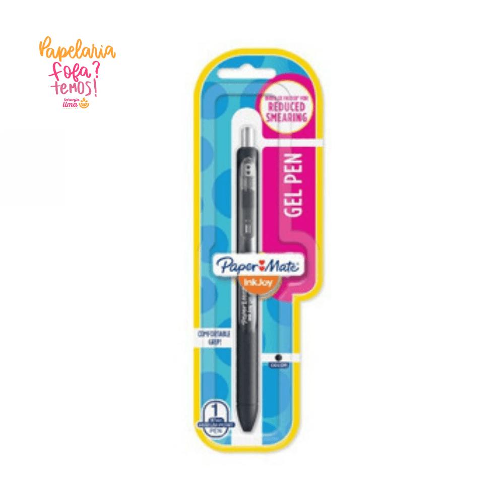 Caneta Paper Mate Gel Ink Joy RT Preta 0.7mm