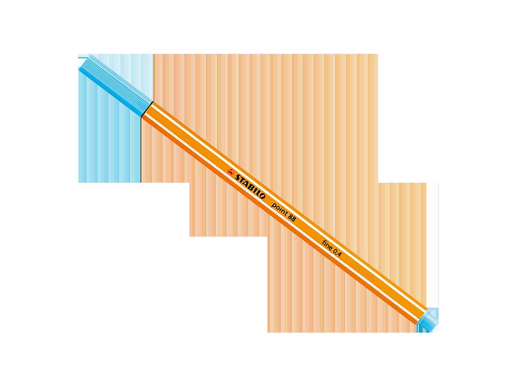 Caneta Stabilo Point 88 Unidade | Laranja Lima Papéis