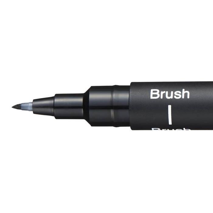 Caneta Brush Uni Pin Preta