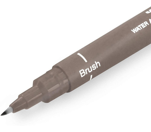 Caneta Brush Uni Pin Cinza Escuro