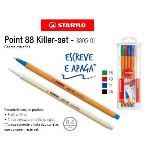 Canetas Stabilo Killer Set Com 5 Cores | Laranja Lima Papéis