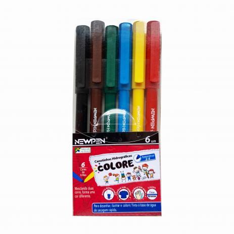 Canetinha Hidrocor Colore NewPen C/6