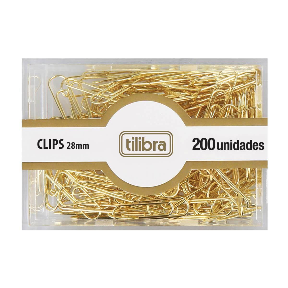 Clips 28mm Dourado com 200UN