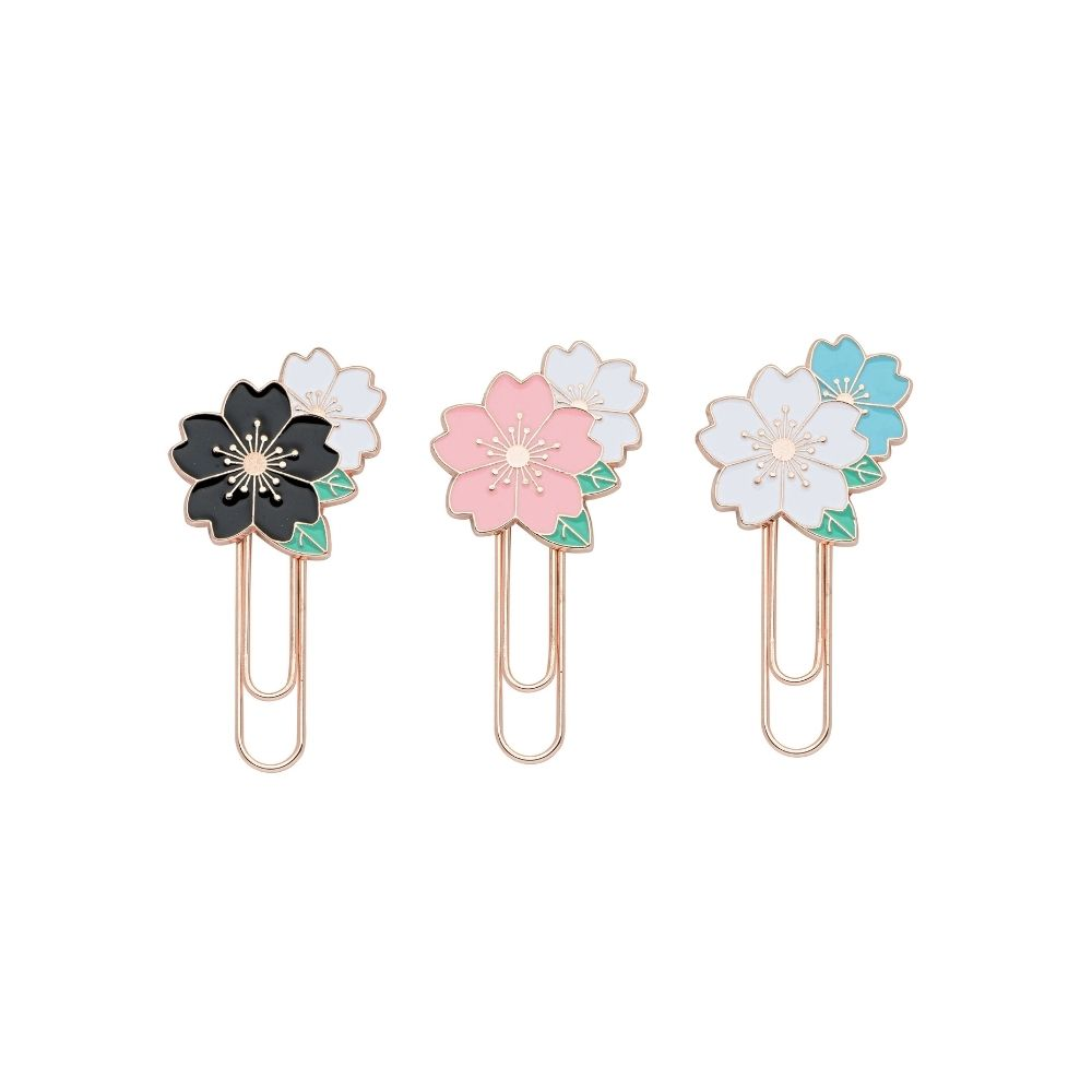 Clips 50MM Flower Molin - Marcador de Páginas