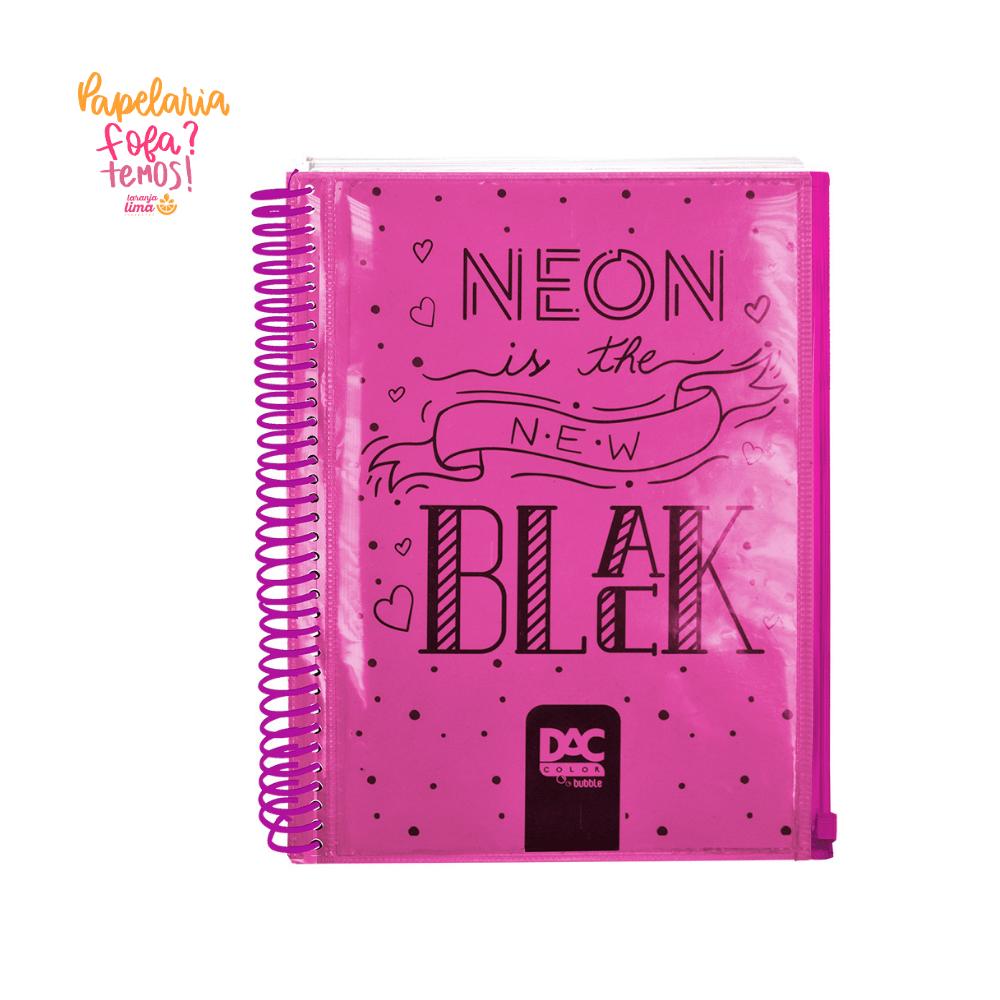 Caderno Espiral Universitario Bubble Rosa