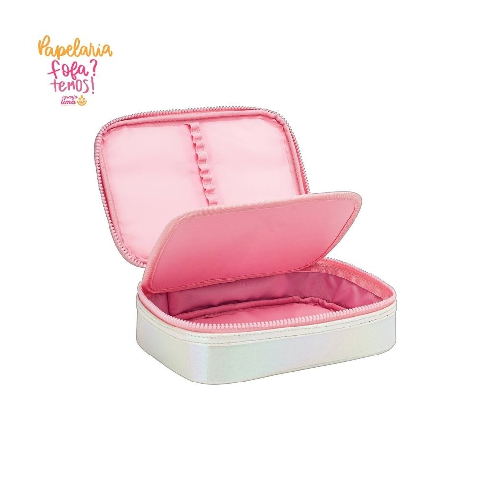 Estojo Box Shine Rosa