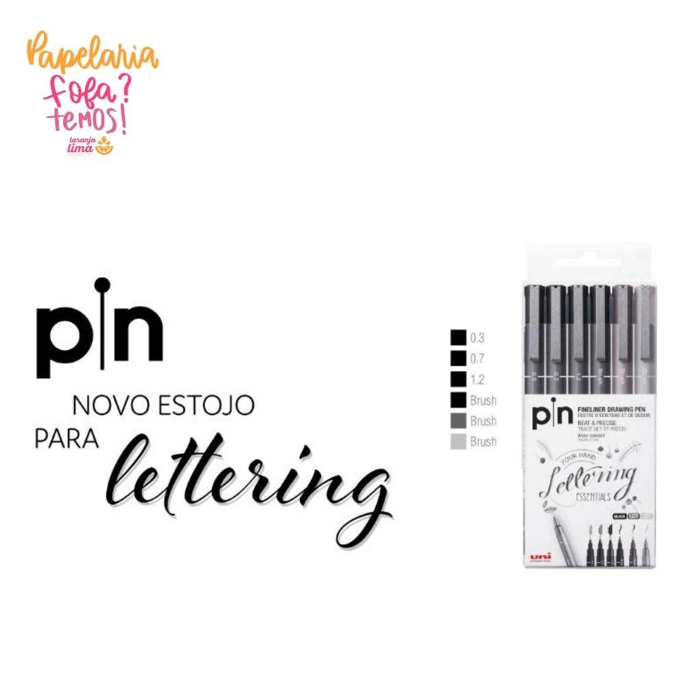 Estojo para Lettering Uni Pin Com 6