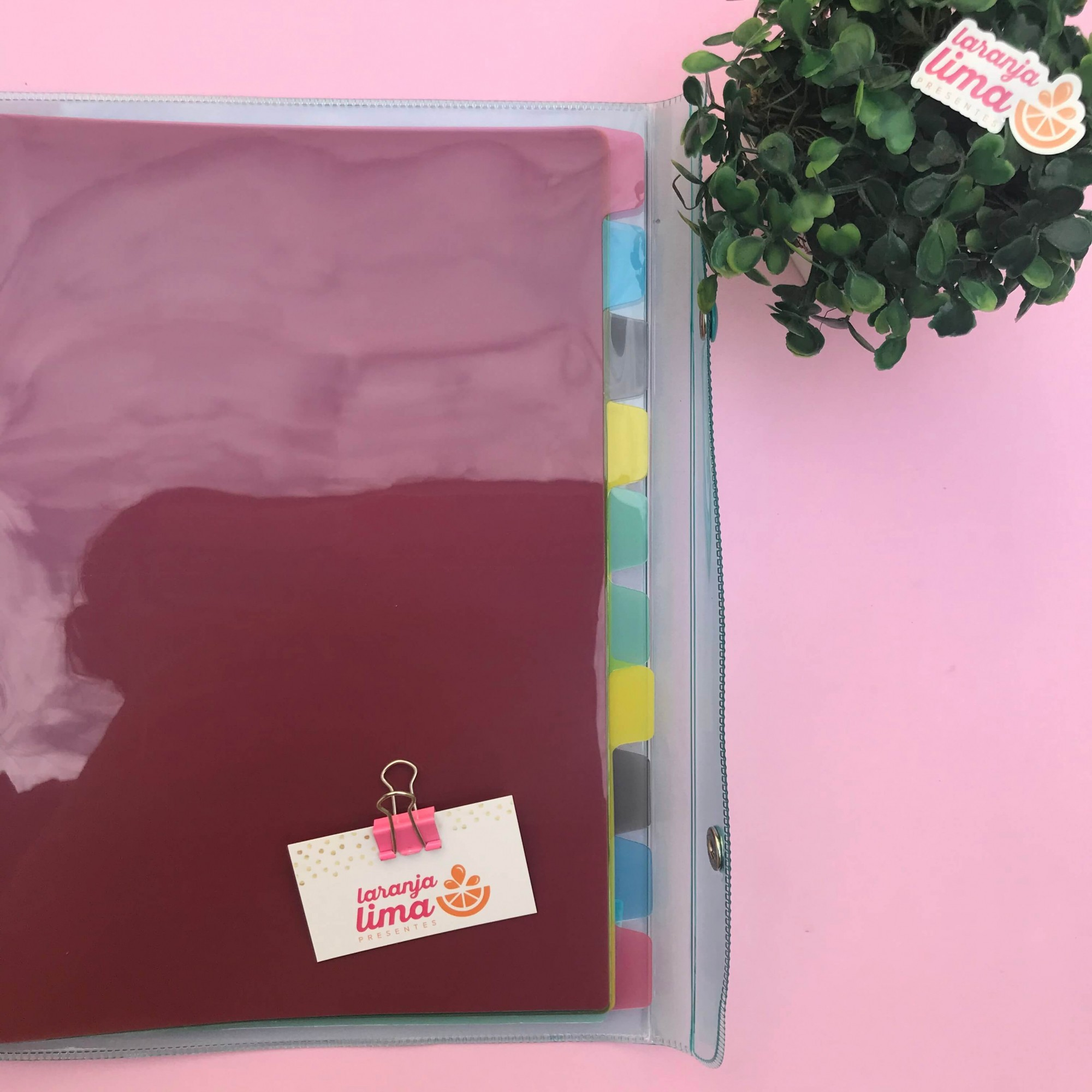 Fichário Universitario Cristal Pastel Breeze Dac com 192 Folhas