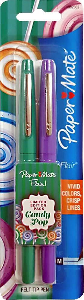 Kit Caneta Paper Mate Flair Candy Pop com 2 Sortidas