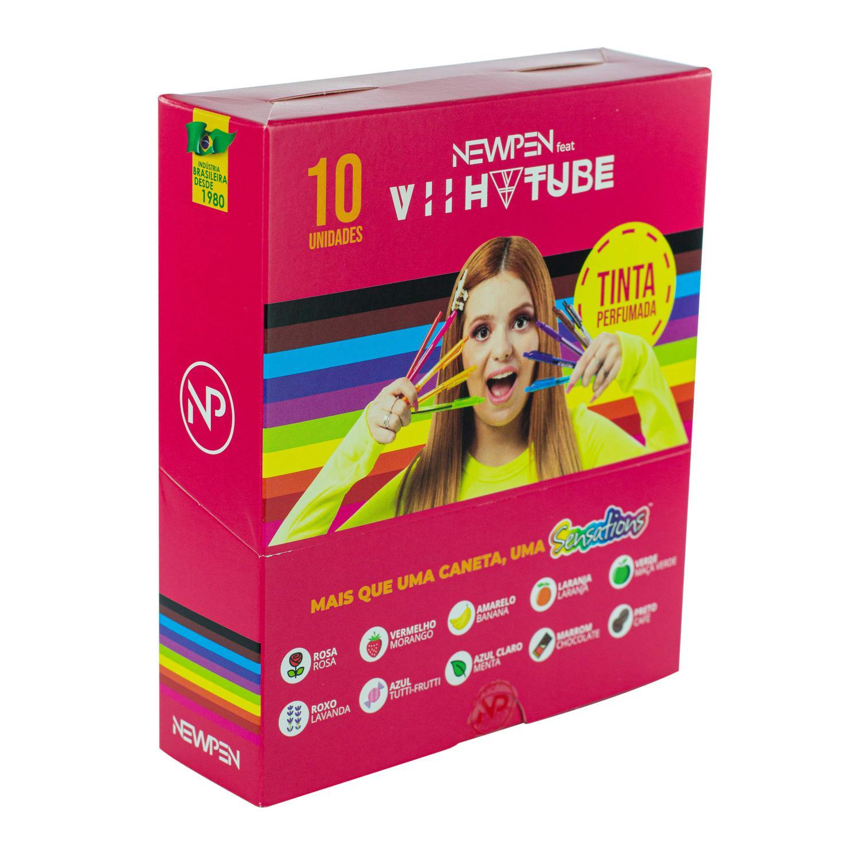 Kit Canetas Viih Tube Newpen Sensations Tinta Perfumada Com 10