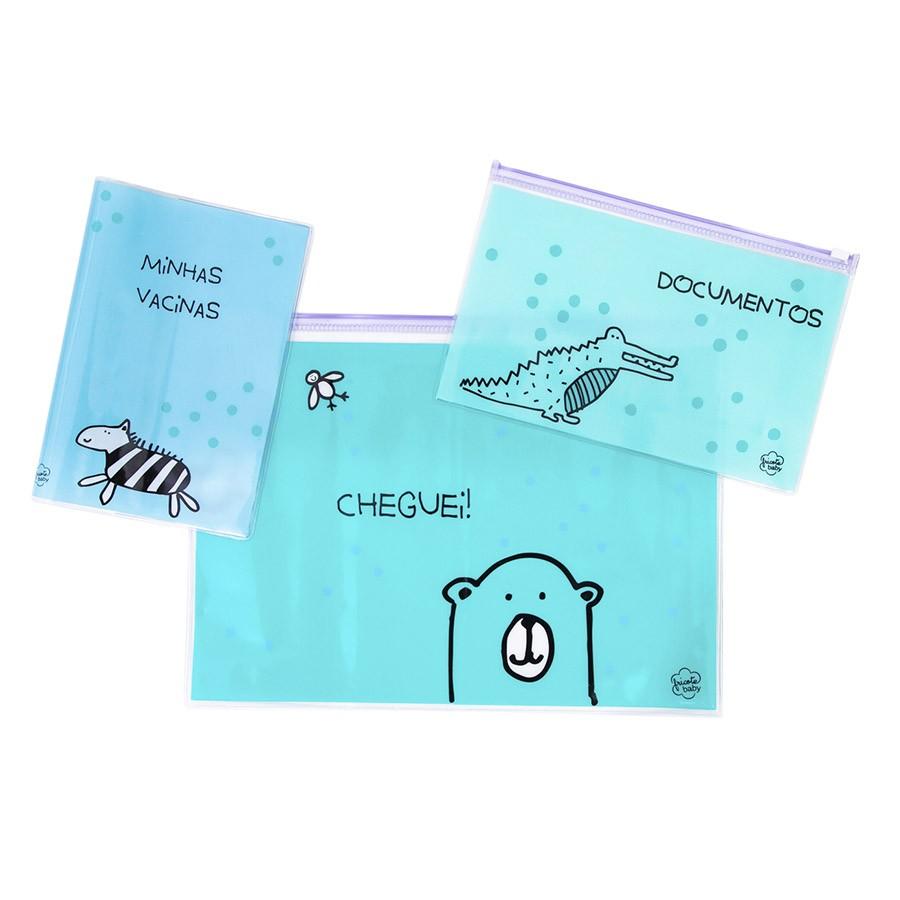 Kit Documentos Bebe Azul