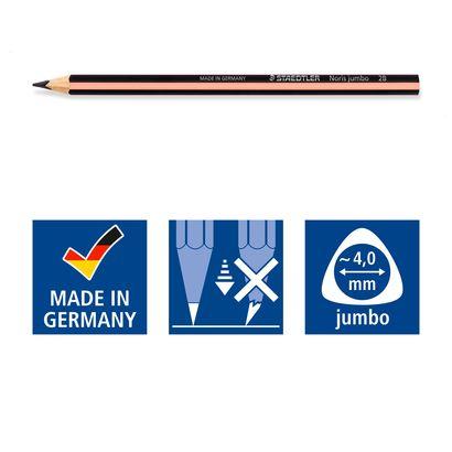Kit Staedtler com 01 Lápis Noris Jumbo + Borracha + Apontador Pastel