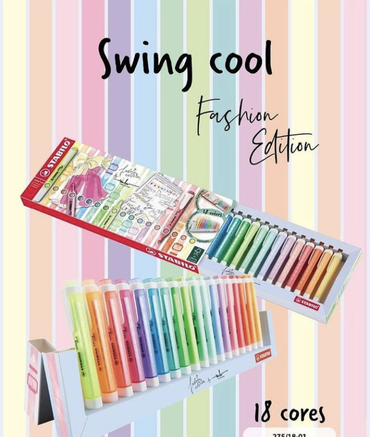 Marca Texto Stabilo Swing Cool Com 18 Cores Fashion Edition