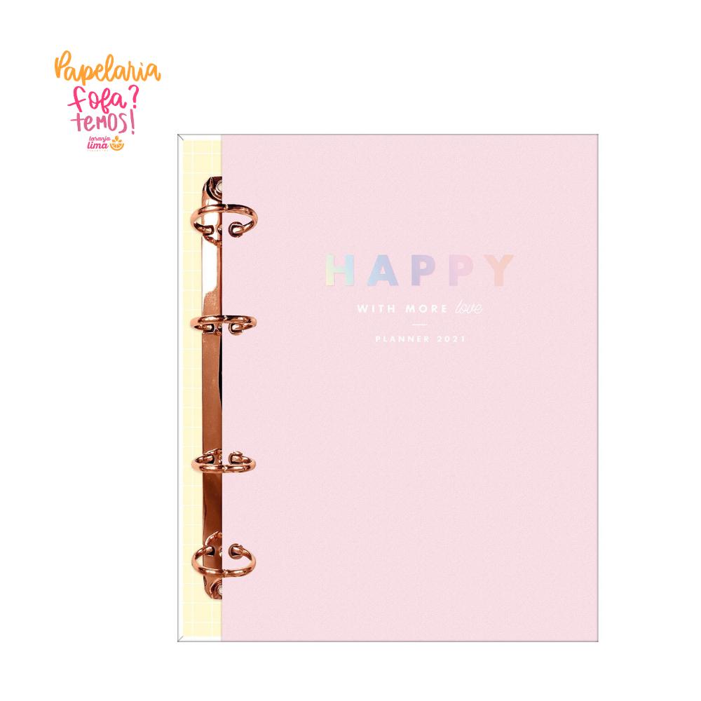 Planner 2021 Argolado Happy Rosa Tilibra