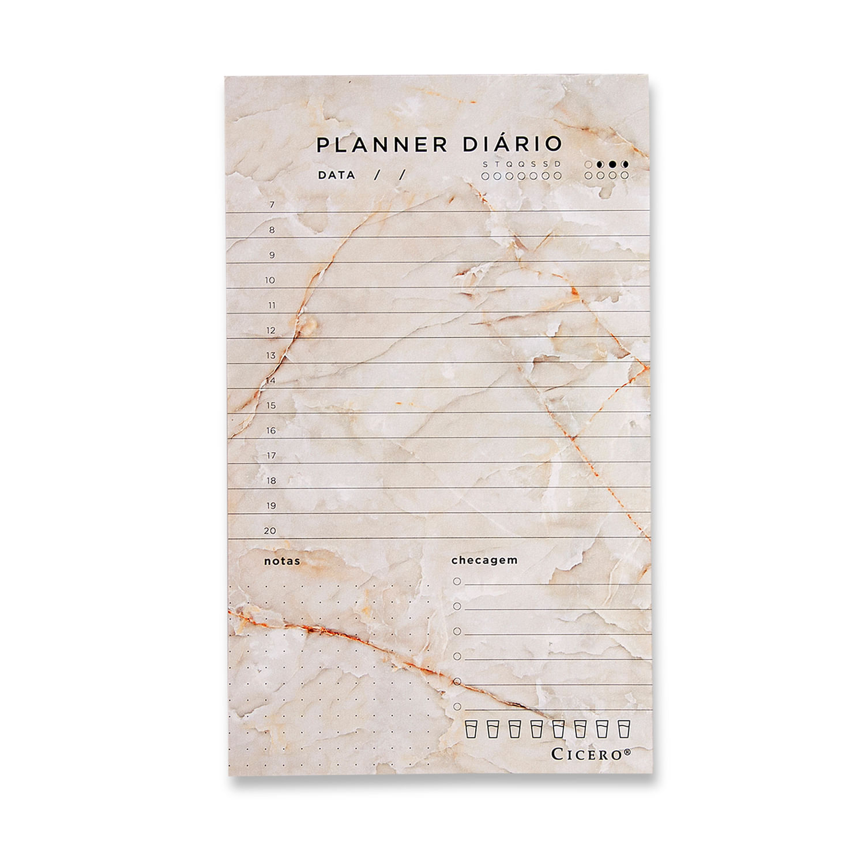 Planner Bloco Diário Minerais