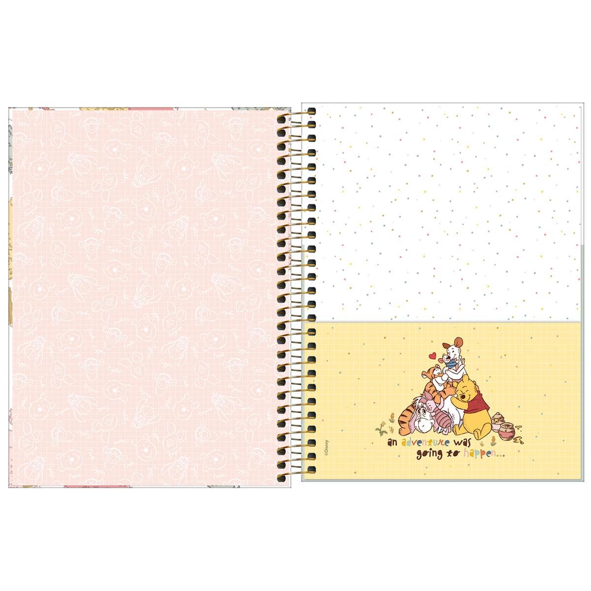 Planner Espiral Pooh Tilibra 2022