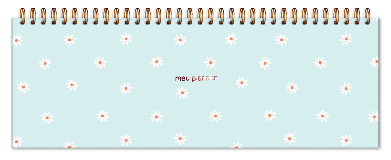 Planner Organizador Semanal Margaridas Fina Ideia