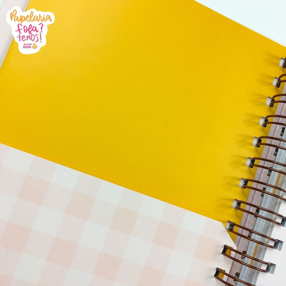 Planner Permanente Minimal Colors Planos Pontilhados