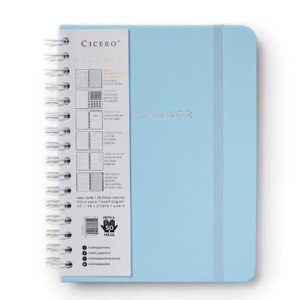 Planner Wire Arco Azul Pastel