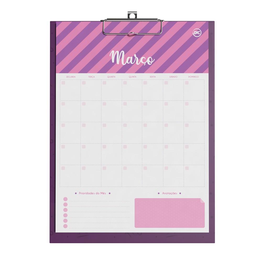 Prancheta Calendario Planner Permanente Signos DAC