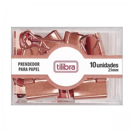 Prendedor Binder Clips Tilibra Rose Gold