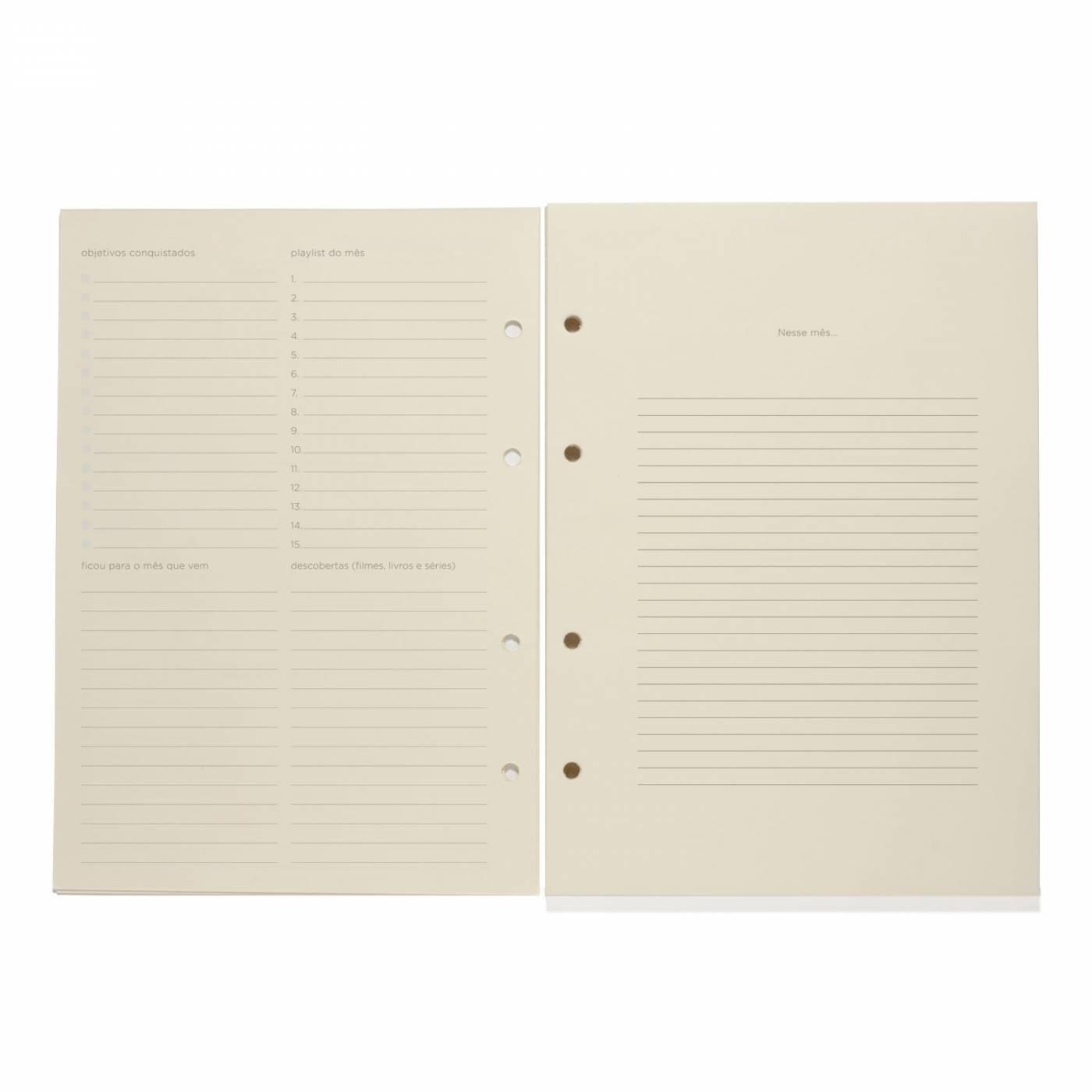 Refil Caderno Fichario 17x24cm Planner