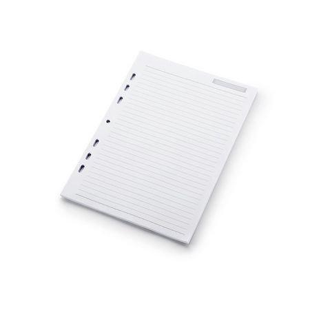 Refil Caderno Fichário Universal Branco Pautado 190 folhas Otima