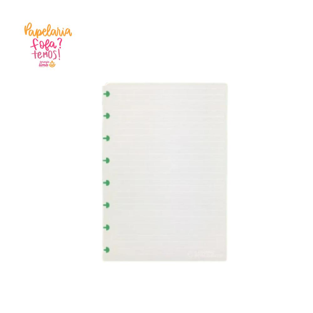 Refil Caderno Inteligente Pautado Linhas Brancas A5 90g