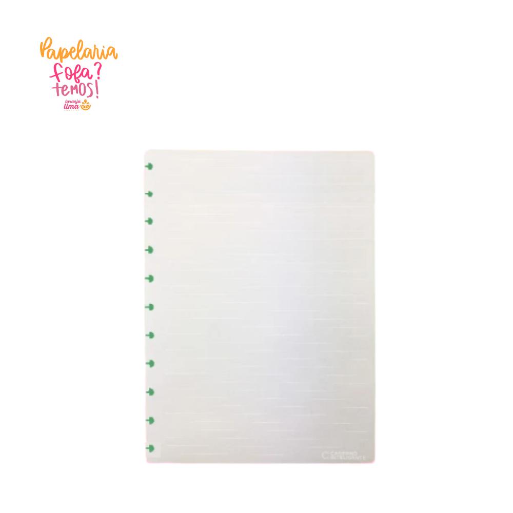 Refil Caderno Inteligente Pautado Linhas Brancas Grande 90g