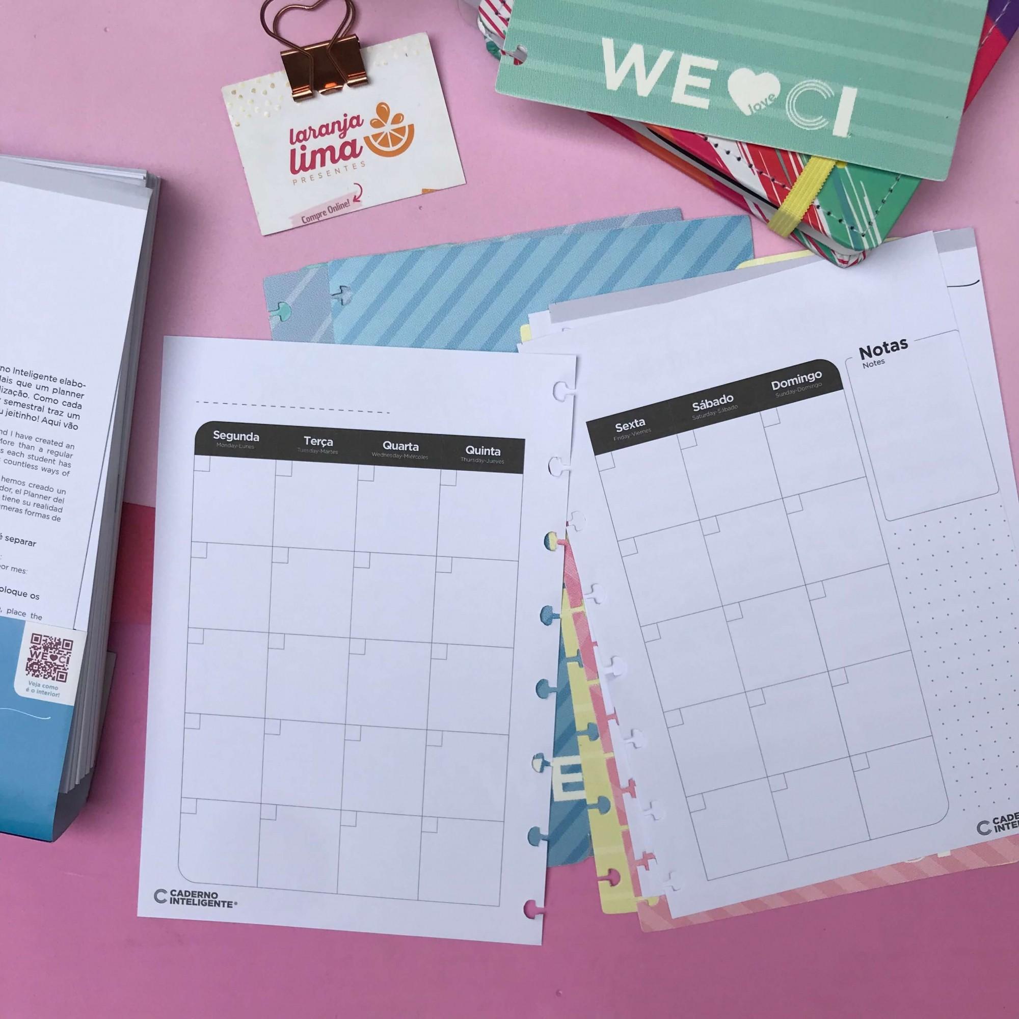 Refil Caderno Inteligente Planner Do Estudante By ANA A5