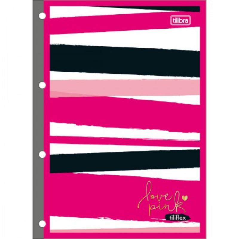 Refil Para Caderno Fichário Universitario Love Pink