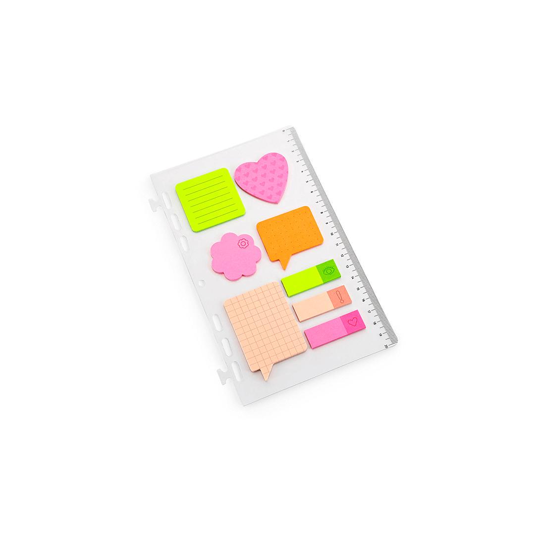 Refil Régua Com Stickys Notes Colorido G