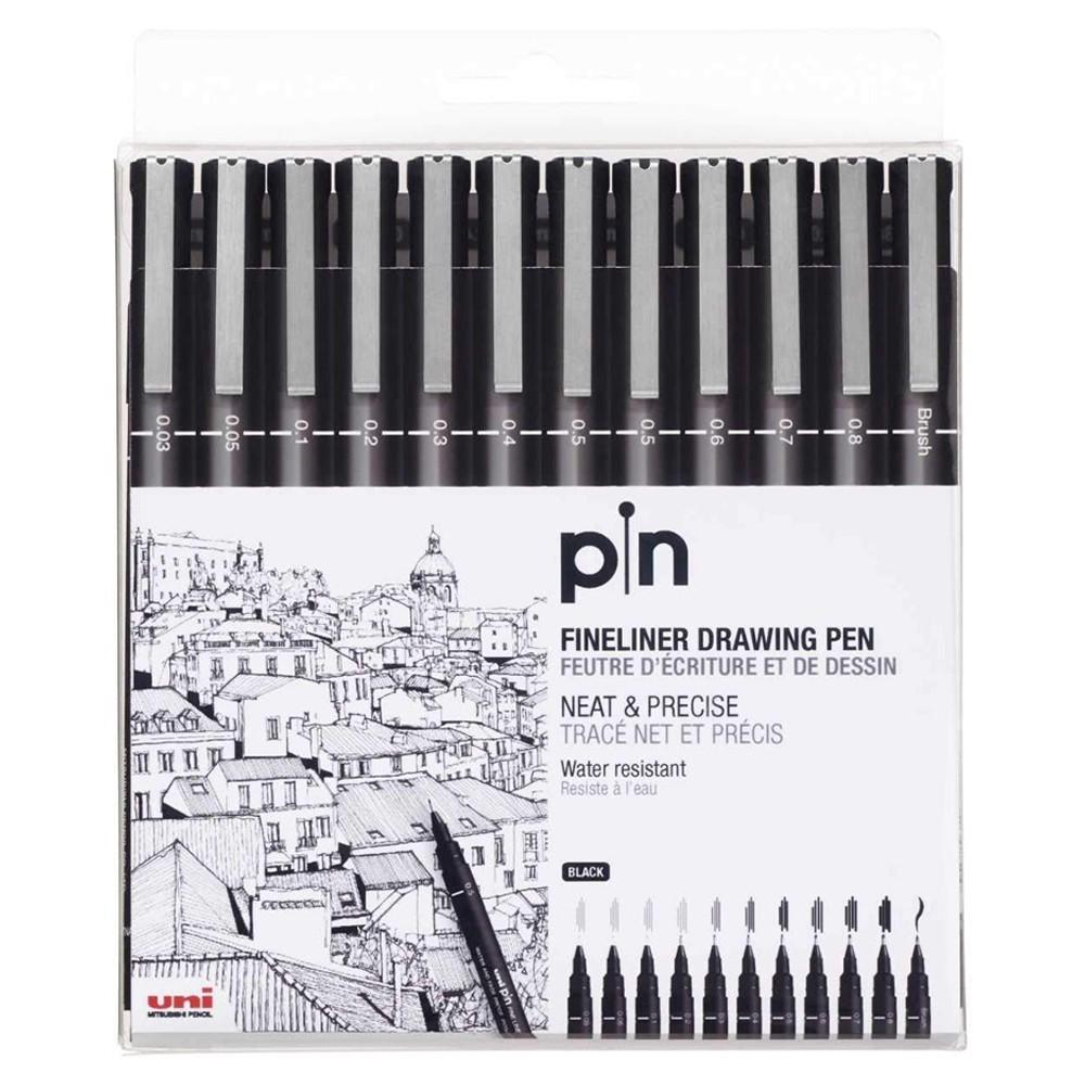 Uni Pin Fineliner Nankin Com 12 Unidades
