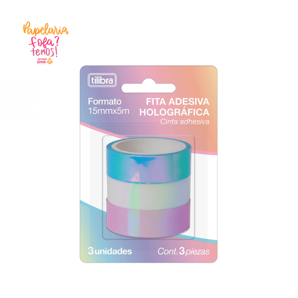 Washi Tape Holografica Tilibra Com 3