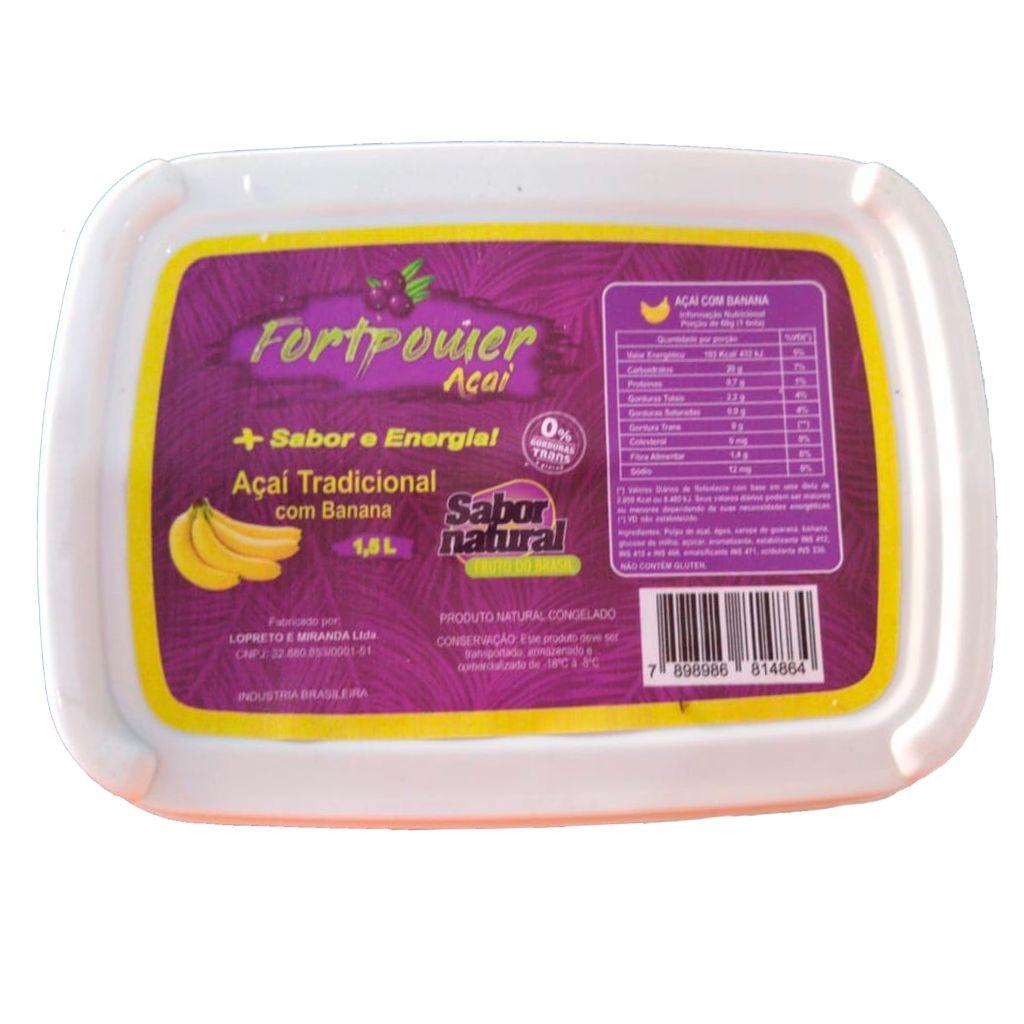 ACAI C/ BANANA 1,5 L  - JJPIVOTTO - Comercio de Frutas