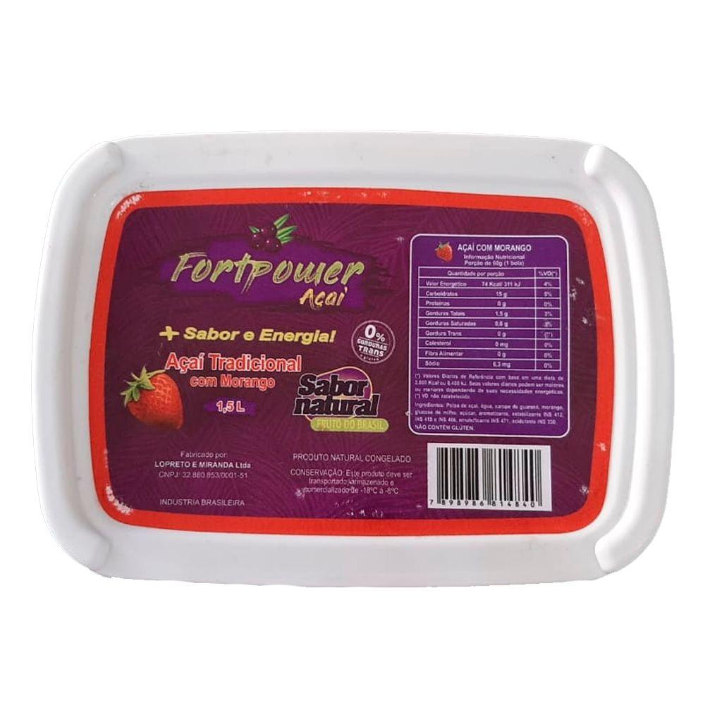 ACAI C/ MORANGO 1,5 L  - JJPIVOTTO - Comercio de Frutas