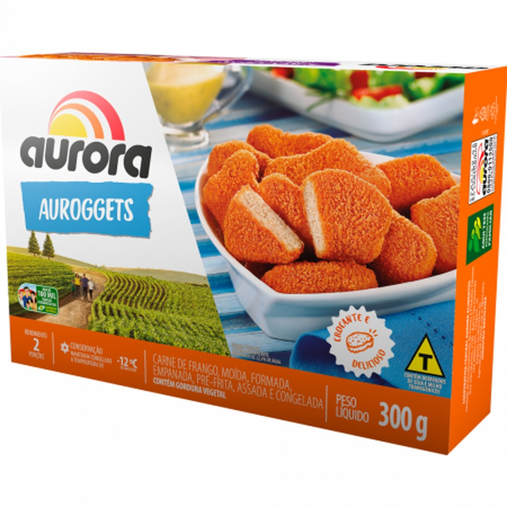 AUROGGETS FRANGO AURORA 300G  - JJPIVOTTO - Comercio de Frutas